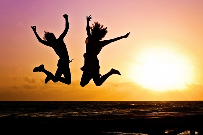 youth-active-jump-happy-sunrise-silhouettes-two