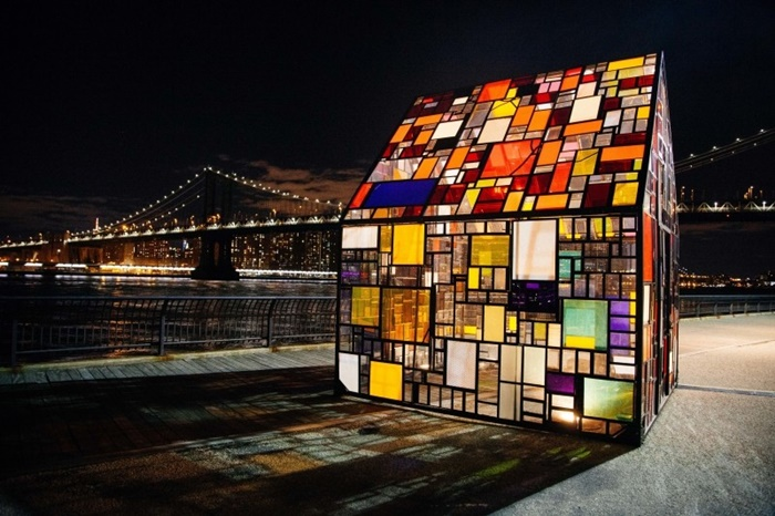 stained-glass-house-on-promenade-by-river